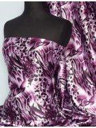 Super Soft Satin Non-Stretch Fabric- Purple Animal Q549 PPL