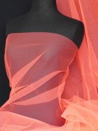 Tutu Fancy Dress Net Material- Flo Pink Q174 FLPN