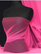 Tutu Fancy Dress Net Material- Flo Cerise Pink Q174 FCRS