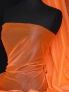 Fluorescent Orange Sparkle Organza Net Material
