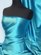 Satin Medium Weight Fabric- Turquoise Q243 TQS