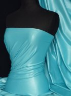 Turquoise Micro Wet Look Stretch Lycra Fabric