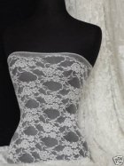 Ivory Flower Soft Stretch Lace With Lycra Fabric