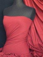 Cotton Lycra Jersey 4 Way Stretch Fabric -  Brick Red Q35 BRKRD