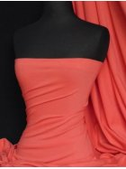 Cotton Lycra Jersey 4 Way Stretch Fabric -  Coral Pink Q35 CRL
