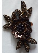 Brown Sequin Iron On Motif
