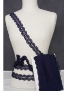 Navy Blue Cotton Scallop Crochet Trimming