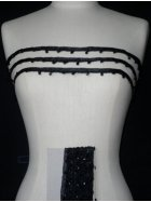 Black Diamond Beaded Trim