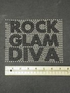 Silver/Black 'Rock Glam Diva' Iron-On Rhinestud