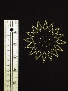 Gold Starburst Iron-On Rhinestud