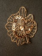 Brown Sequin Flower Embellishment