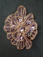 Sequin Flower Embellishment- Dark Purple EM141 DKPPL