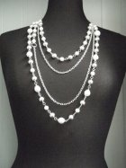 Silver/Pearl Beaded Chain Necklace