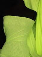 Sweatshirt Loop Back Jersey Material- Fluorescent Yellow Q973 FLYL