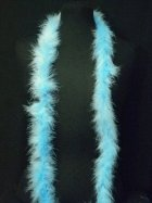 Light Blue Faux Fur Trimming