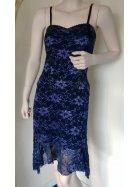 Floral Purple Lace Strappy Dress