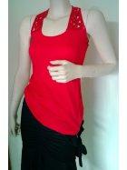 Sequin Racer-Back Red Vest Top