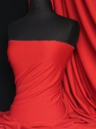 Ponte Double Knit 4 Way Stretch Jersey Fabric- Red Q37 RD
