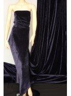 Clearance Velvet/Velour Stretch Spandex Lycra Fabric- Navy Q1174 NY