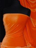 Velvet/Velour Stretch Spandex Lycra Fabric- Flo Orange Q1174 FLOR