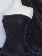 Slinky Shimmer 4 Way Stretch Fabric- Black/Silver Q1183 BKSLV