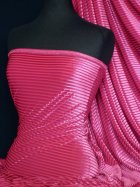 Velvet / Velour Burnout Stripe 4 Way Stretch Spandex Lycra- Cerise Q1175 CRS