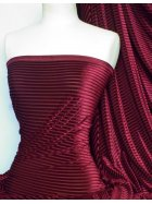 Velvet / Velour Burnout Stripe 4 Way Stretch Spandex Lycra- Claret Q1175 CLT