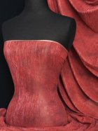 Red Paisley Sheer Silver Subtle Shimmer Fabric