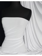 Soft Touch 4 Way Stretch Lycra Fabric- White Q36 WHT