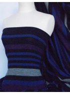 Stripe Sweater Knit Acrylic Soft Knitwear Fabric- Royal Blue Horizontal Q1201 RBL