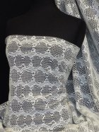Bonded Lace Two Tone Double Layer Stretch Fabric- Ivory/Black Q1162 IVBK