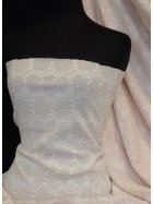 Bonded Lace Two Tone Double Layer Stretch Fabric- Peach Q1162 IVPCH