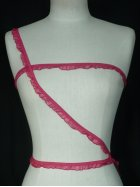 2 Metres Cerise Pink Ruffle Organza Trim