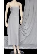 5 Metres PQ Sheen Tactel 4 Way Stretch Lycra Jersey Fabric- Grey Q1268 PQGRY