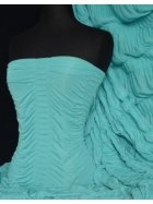 Ruched 4 Way Stretch Fabric- Aqua Q803 AQ