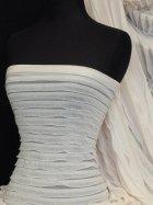 Frilly Ruffle 4 Way Stretch Fabric- Peach Q848 PCH