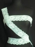 Mint Floral Embroidered Lace Trim
