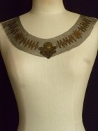 Brown/ Gold Coin Net Neck Piece