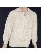 Pure Vintage Wool Aran Collar Jumper- UNISEX