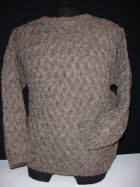 MEN'S Earth Brown Basket Weave Jumper