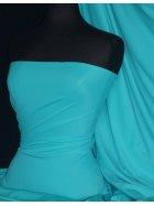 Matt Lycra 4 Way Stretch Fabric- Light Turquoise Q56 LTTQS