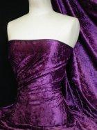 Crushed Velvet/Velour Stretch Material- Purple Q156 PPL