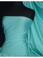 Shiny Lycra 4 Way Stretch Material- Aqua Blue Q54 AQ