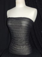Crinkle Chiffon Sequin Sheer Fabric- Black SQ28 BK