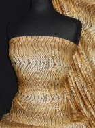 Silk Touch 4 Way Stretch Fabric- Camel Tiger Print Sequin SQ36 CML