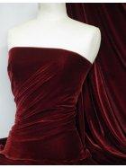 Micro Velvet Velour Fabric Luxuriously Soft Velvet- Wine MVEL22 WN