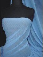 Helenka Mesh Spot Sheer Stretch Material- Mid Blue SQ37 MDBL