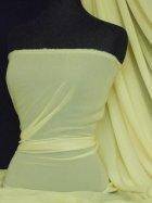 Chiffon Soft Touch Sheer Fabric Material- Light Lemon Q354 LTLMN