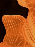 Helenka Mesh Diamond Embossed Sheer Stretch Material- Tango Orange SQ47 TOR