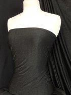 Gold Shimmer 4 Way Stretch Fabric - Black SQ51 BKGLD